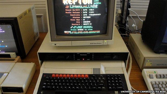 Archive photo of Acorn-made BBC computer