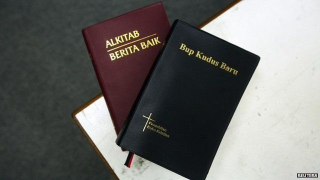 Two copies of the Bible in Malay and the Iban dialect