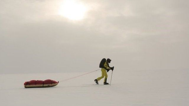 Richard Parks trekking to South Pole