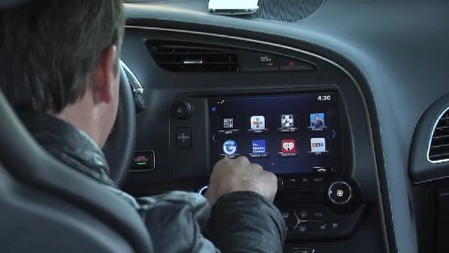 General Motors connected car screen