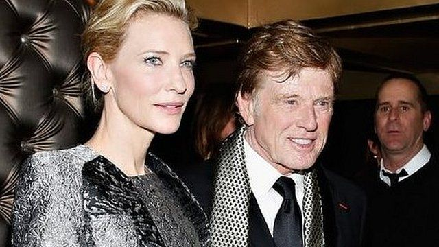Cate Blanchett and Robert Redford