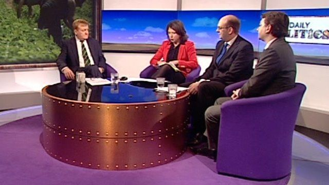 Charles Kennedy, Jo Coburn, Mark Reckless and Tim Aker