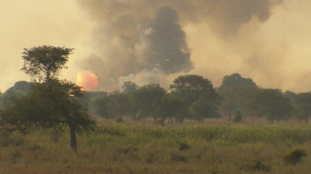 Rebel troops destroy munitions in Bentiu, South Sudan