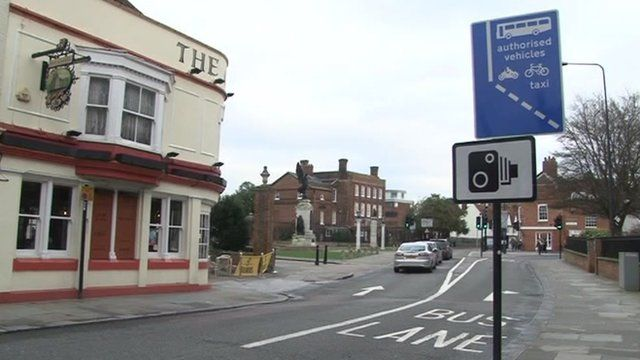 Bus lane in Colchester