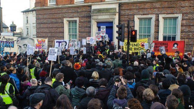 Vigil for Mark Duggan in Tottenham