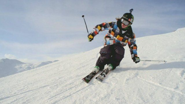 James Woods skiing