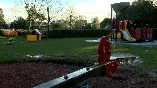 Playground equipment in park