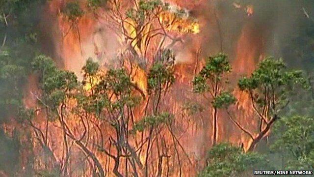 Bushfire in Grampians National Park, Victoria