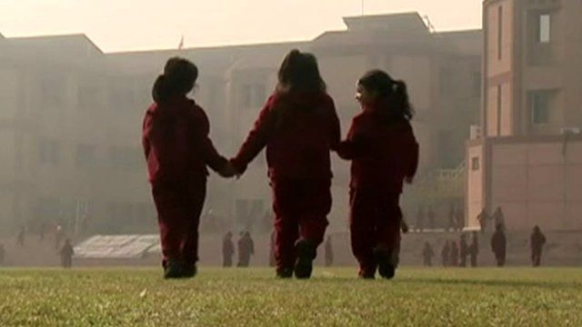 School children in Delhi