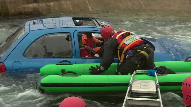 Flood rescue training exercise