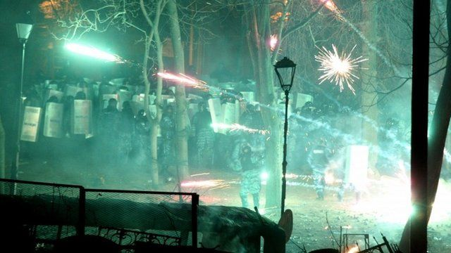 Fireworks and police