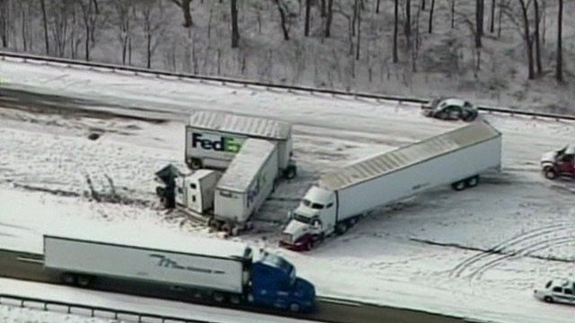 Lorry crash in Indiana