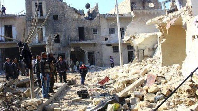 Destruction in Aleppo, 21 Jan
