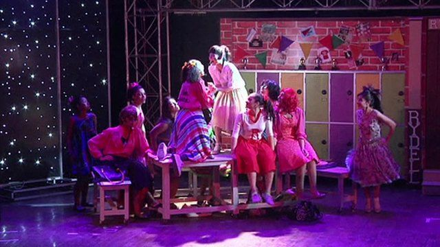 Some of the performers from Grease