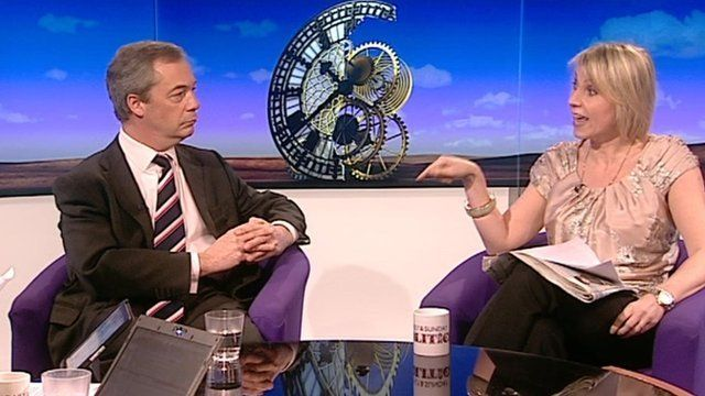 Nigel Farage and Louise Cooper