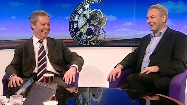 Nigel Farage and Kevin Maguire