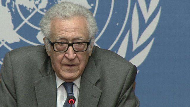 Lakhdar Brahimi, UN-Arab League special envoy to Syria