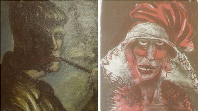 Two paintings, previously unknown, by German artist Otto Dix