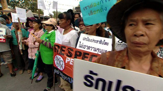 Pro-government protesters in Bangkok