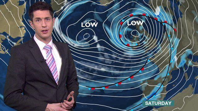 BBC weather presenter Chris Fawkes