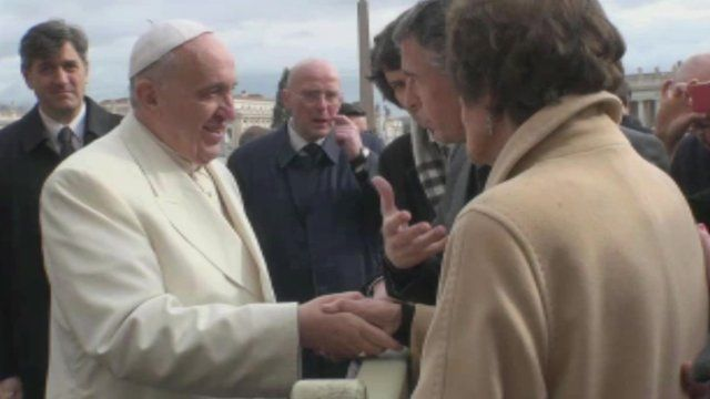 Pope Francis, Steve Coogan and Philomena Lee