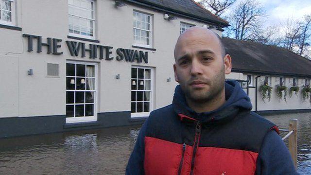 Steve Hammond, the landlord of The White Swan in Mansbridge