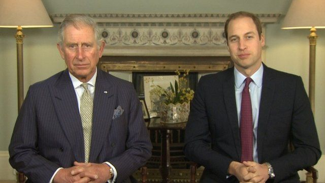 Prince Charles and the Duke of Cambridge