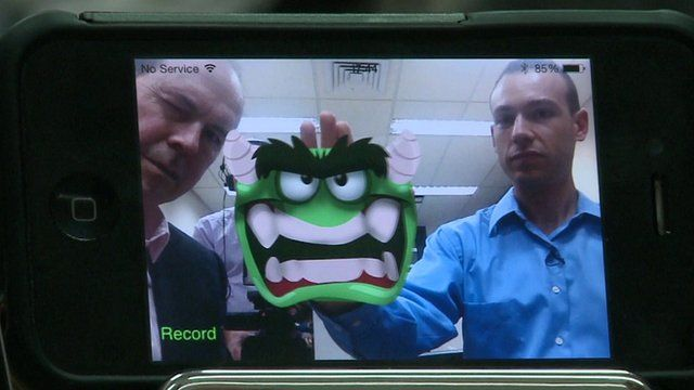 Gesture recognition software with a monster as a cursor