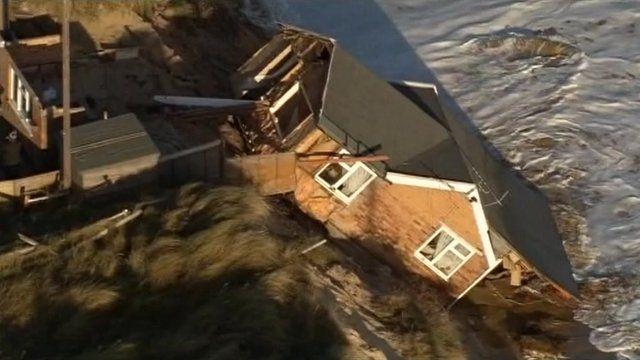House in sea in Norfolk