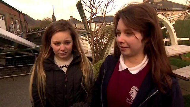 Young residents of Porthmadog in Gwynedd