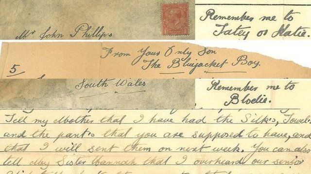 Extracts of the letter written in World War One