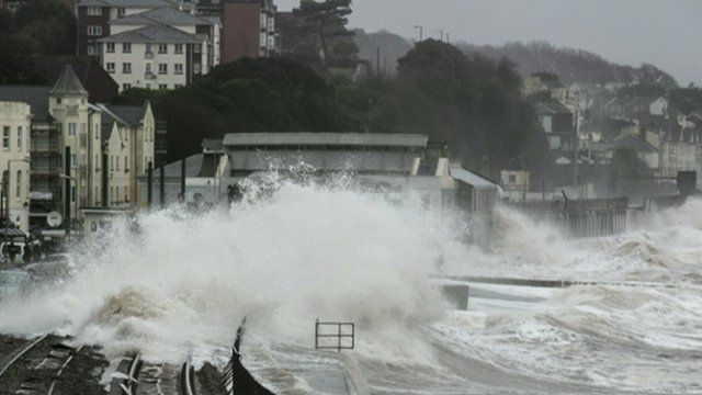 Storm-lashed coastal development