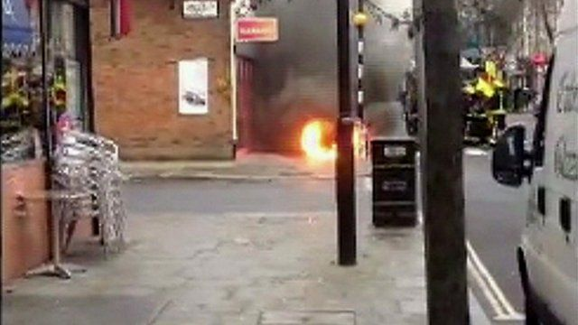 Fire at Caledonian Road
