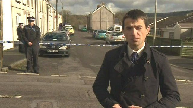 Reporter Hywel Griffith