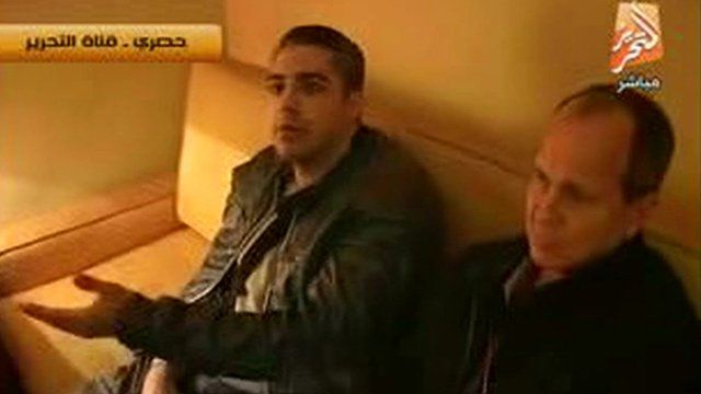 Peter Greste, right, and Mohamed Adel Fahmy