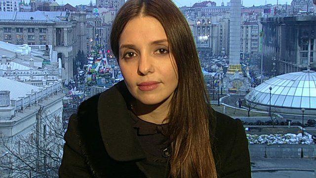 Eugenia Tymoshenko, daughter of former Ukrainian prime minister Yulia Tymoshenko