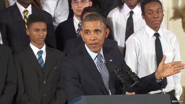 President Barak Obama giving a speech