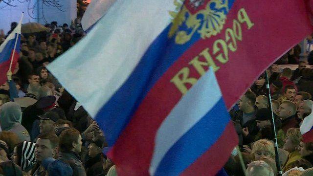 Crowds in Sevastopol