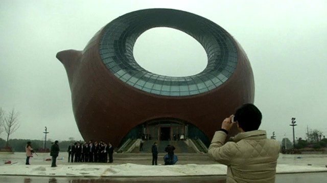 The teapot-shaped building in Wuxi
