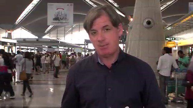 John Sudworth in Kuala Lumpur airport