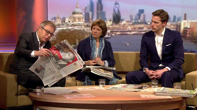 Gavin Hewitt, Baroness Joan Bakewell and Wilfred Frost
