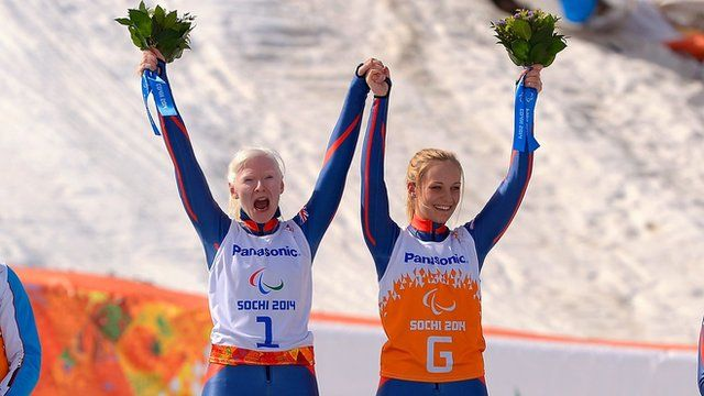GB Paralympic skiers Kelly Gallagher and Charlotte Evans