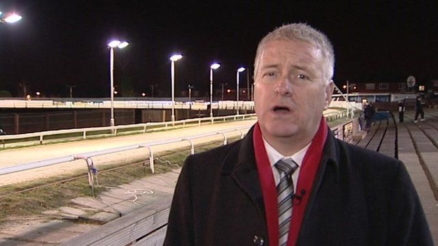 Ian Lavery MP at dog track