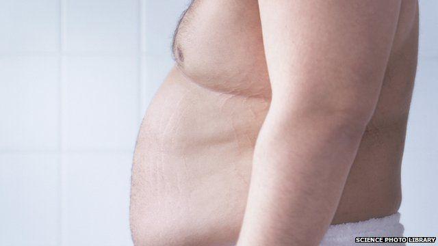 An overweight man