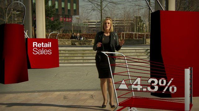 Steph McGovern with virtual shopping trolley