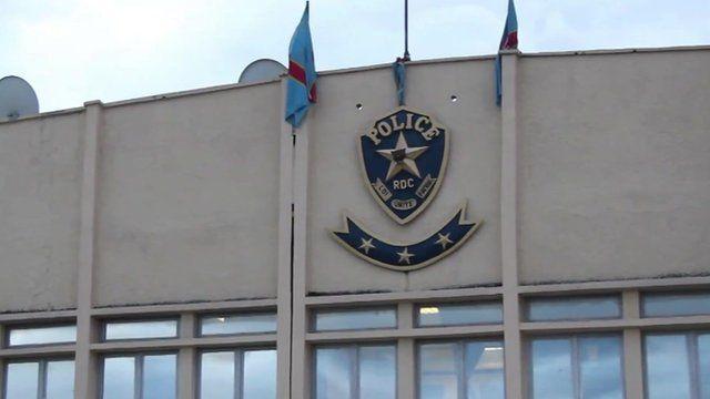 Police station in Kinshasa