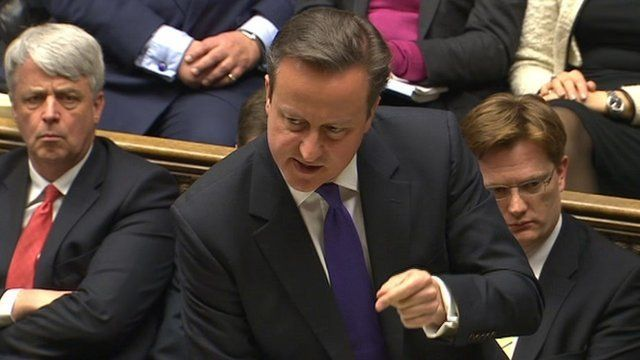David Cameron at PMQa