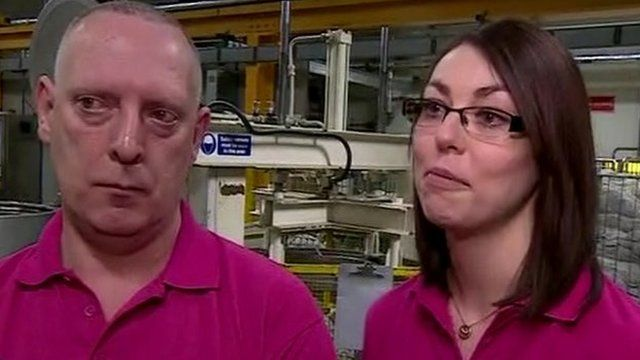 Factory workers in Derbyshire