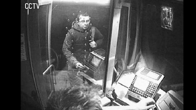Simon Holdsworth boarding a bus