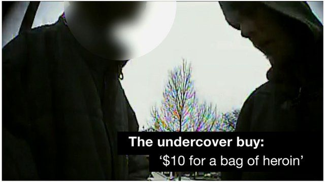 Undercover footage of a drug buy